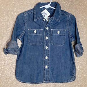 Oshkosh B'Gosh Jean button down long sleeve shirt